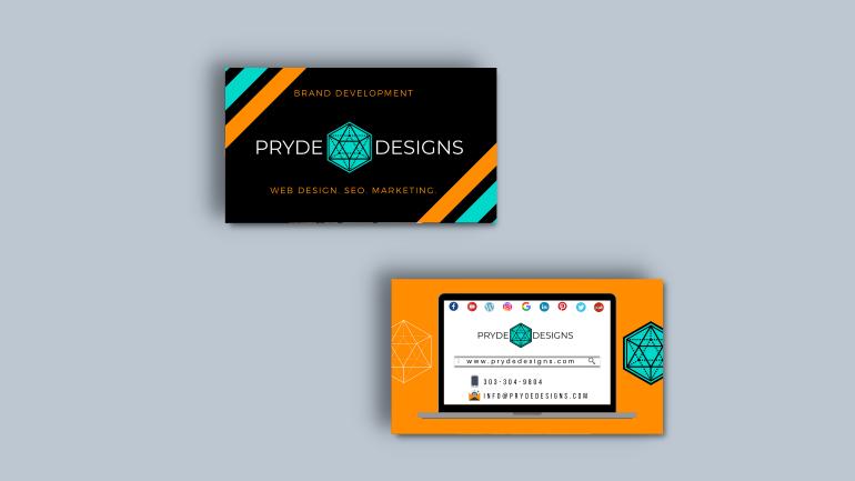 Web Design custom business cards
