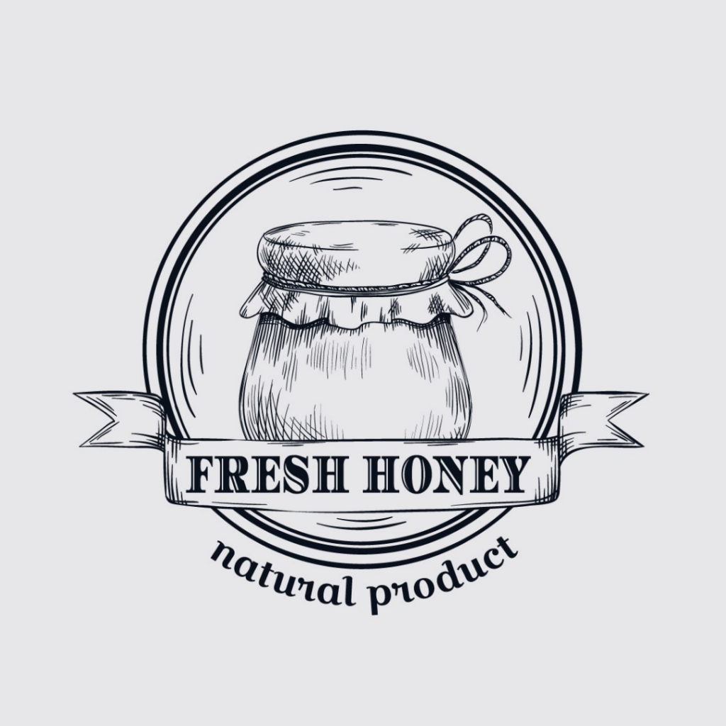 Example of a hand drawn logo design