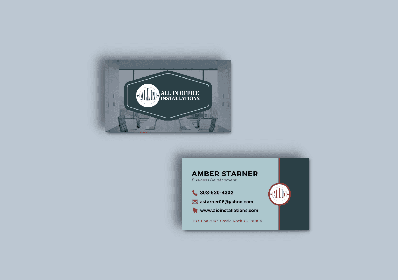 Construction business custom business cards