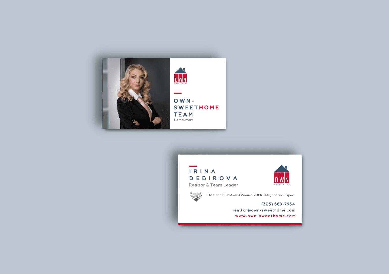 Real estate custom business cards