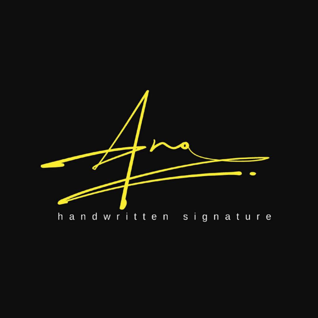 Example of a signature logo design