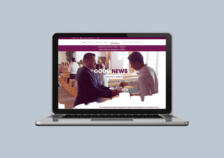 Christian church custom web design