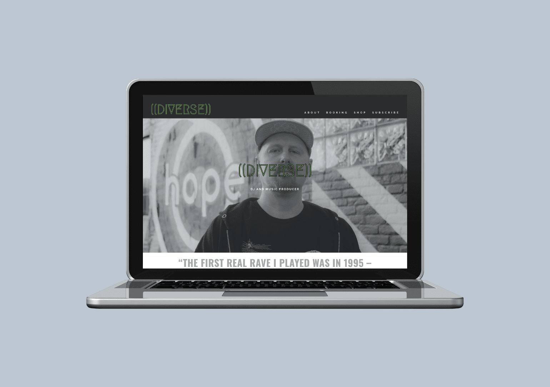 Custom Web Designer for DJ producer website