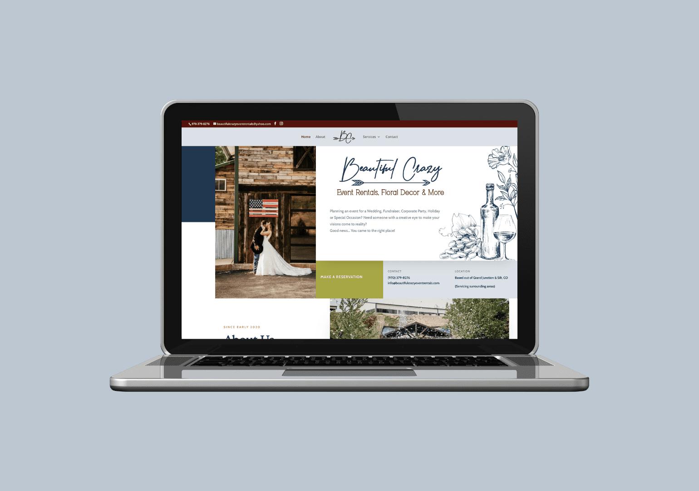 Custom Web design for event rental companies