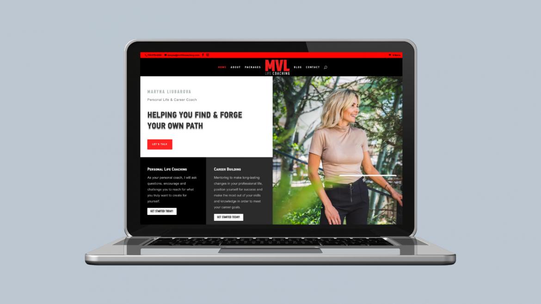 Custom built website for Life Coach